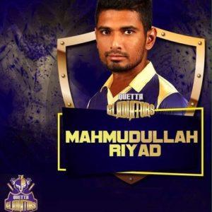 Mahmudullah Riyad of Quetta Gladiators
