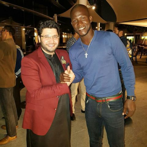Javed Afridi with Darren Sammy