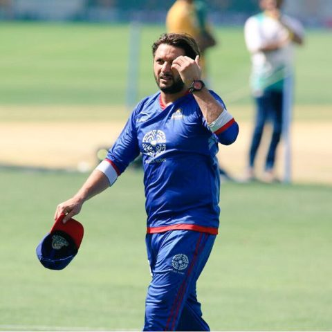 Shahid Afridi in Karachi Kings Kit